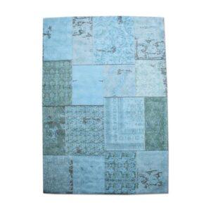 Carpet Patchwork 170x240 cm - turquoise-onstenk meubelen
